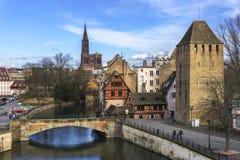 Городской пейзаж страсбурга Стоковое Фото