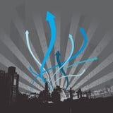 городской пейзаж стрелок взрывая Стоковая Фотография RF
