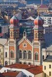 Городской пейзаж с большой синагогой, Plzen Стоковое фото RF