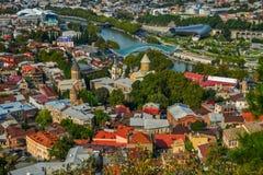 Городской пейзаж Тбилиси, Грузии стоковое фото