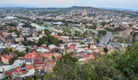 Городской пейзаж Тбилиси, Грузии стоковые изображения
