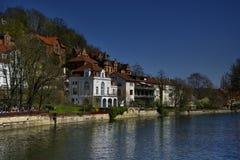 Городской пейзаж фасадов Tubingen Schwarzwald Германии стоковое изображение