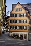 Городской пейзаж фасадов Tubingen Schwarzwald Германии стоковое изображение rf
