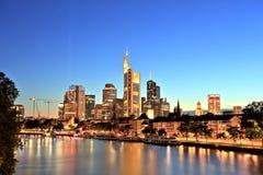 Городской пейзаж Франкфурта-на-Майне городской Стоковая Фотография RF