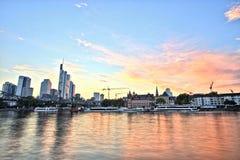 Городской пейзаж Франкфурта-на-Майне городской Стоковые Изображения RF