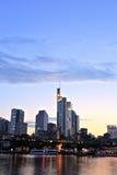 Городской пейзаж Франкфурта-на-Майне городской Стоковое Изображение