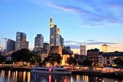 Городской пейзаж Франкфурта-на-Майне городской Стоковые Изображения