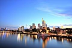 Городской пейзаж Франкфурта-на-Майне городской Стоковые Фото