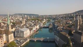Городской пейзаж Цюриха видеоматериал