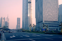 Городской пейзаж Шанхая Пудуна стоковые изображения