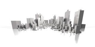 городской пейзаж широко Стоковое Изображение