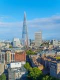 Городской пейзаж южного берега Лондона на солнечном после полудня Стоковое Изображение RF