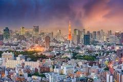 Городской пейзаж Японии токио Стоковое Изображение RF
