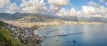 Городской пейзаж Alanya - Турция стоковое изображение rf