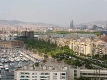 городской пейзаж barcelona Стоковая Фотография RF