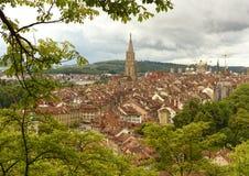 Городской пейзаж Bern столица Швейцарии, Стоковые Изображения