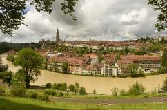 Городской пейзаж Bern столица Швейцарии, Стоковая Фотография RF