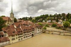 Городской пейзаж Bern столица Швейцарии, Стоковое Изображение