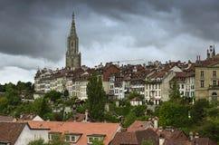 Городской пейзаж Bern столица Швейцарии, Стоковые Фото
