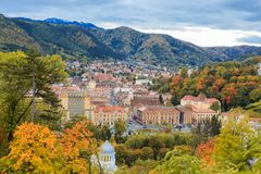 Городской пейзаж Brasov, Румыния Стоковая Фотография