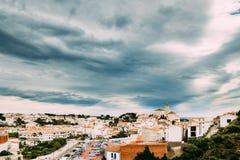 Городской пейзаж Cadaques Городок в провинции Хероны, Каталония, Стоковое Изображение