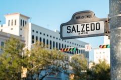 Городской пейзаж Coral Gables Стоковое Изображение