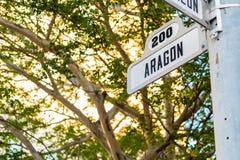 Городской пейзаж Coral Gables Стоковые Изображения RF