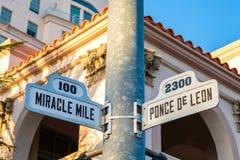 Городской пейзаж Coral Gables Стоковые Изображения