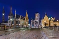 Городской пейзаж Gent - Бельгия Стоковые Фотографии RF