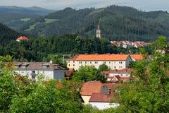 Городской пейзаж Judenburg, Австрия Стоковое фото RF