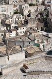 Городской пейзаж Matera di Sassi Стоковое Изображение