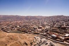 Городской пейзаж Potosi от Cerro Rico Стоковое Фото