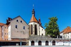 Городской пейзаж Ptuj стоковые фотографии rf