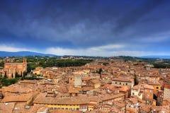 Городской пейзаж Siena (toscana - Италии) Стоковые Изображения RF