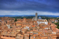 Городской пейзаж Siena (toscana - Италии) Стоковое фото RF