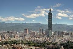городской пейзаж taipei стоковое фото
