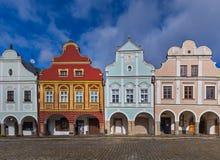 Городской пейзаж Telc в чехии Стоковые Фотографии RF