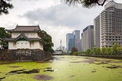 Городской пейзаж Tokio на имперском дворце Стоковые Фотографии RF