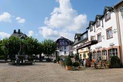 Городской пейзаж Ulmen в зоне eifel Мозель marketplace стоковое фото rf