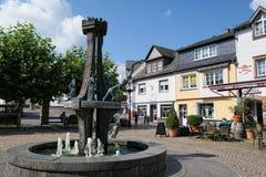 Городской пейзаж Ulmen в зоне eifel Мозель marketplace стоковые изображения