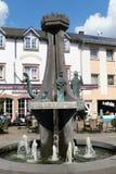 Городской пейзаж Ulmen в зоне eifel Мозель marketplace стоковая фотография