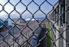 городской портовый район seattle стоковые изображения rf