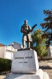 Городской центр Kragujevac - самый большой городок района Sumadija Мемориальный памятник статуи Joakim Vujic Стоковое Фото