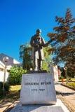 Городской центр Kragujevac - самый большой городок района Sumadija Мемориальный памятник статуи Joakim Vujic Стоковые Фотографии RF