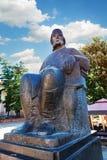 Городской центр Kragujevac - самый большой городок района Sumadija Мемориальный памятник статуи к Vuk Karadzic Стоковая Фотография RF