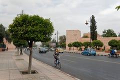 Городской Marrakech, редко посещал 3 стоковая фотография