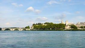 Город Авиньона, Франции сток-видео