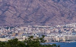 Город Акабы известный курорт, Джордан стоковая фотография