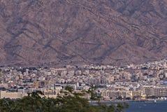 Город Акабы известный курорт, Джордан стоковые фото