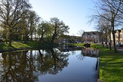 Город Алкмара ландшафта Голландии Стоковые Изображения RF